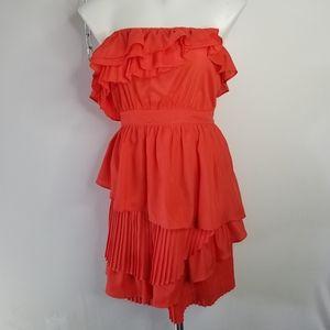 4/$20 Maude Strapless Layered Ruffled Dress M
